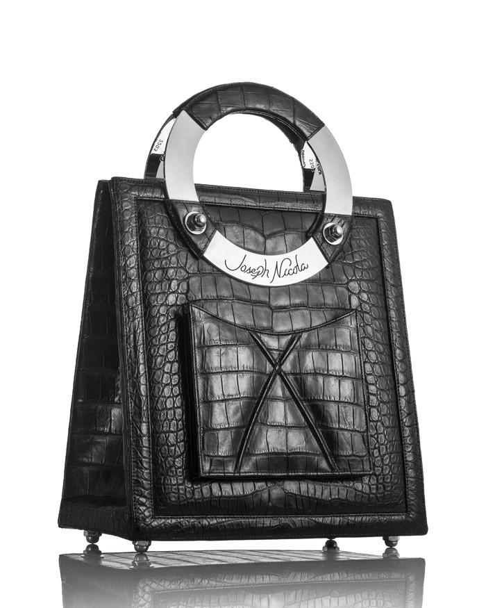 Mega Black American Alligator Handbag