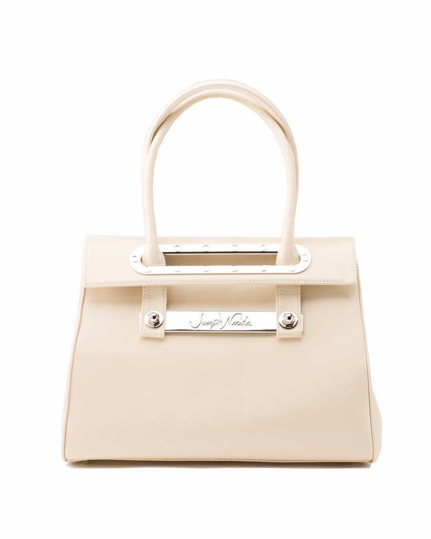 Lola Large Marble Tote w/ Polished Nickel Hardware