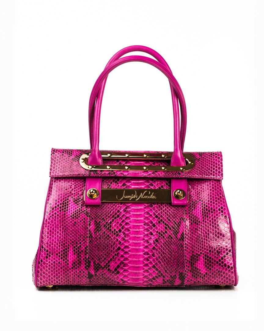 Lola Medium Hot Pink Python