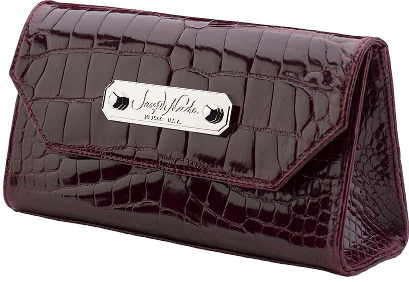California Clutch Burgundy Alligator