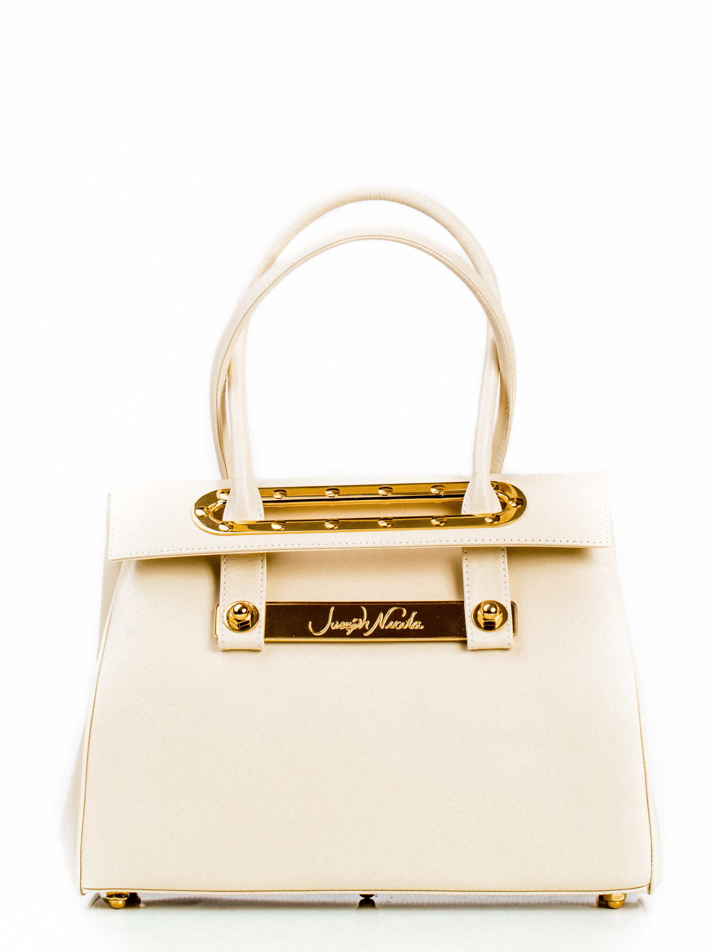 Lola Large Marble Tote W/ 24k Gold Plated Hardware