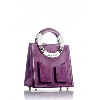 Medium Plum Suede Handbag