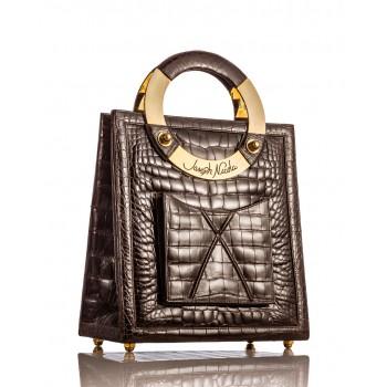 Mega Brown Glazed American Alligator Handbag