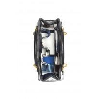 Mini Black Quilted Patent Leather Handbag