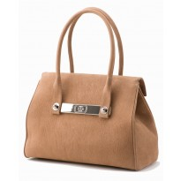 Lola Large Mocha Tote w/ Polished Nickel Hardware