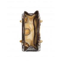Mini Brown Glazed American Alligator Handbag