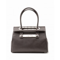 Lola Large Smoke Tote w/ Polished Nickel Hardware