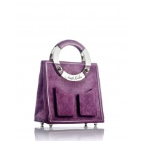 Medium Plum Suede Handbag