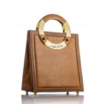 Mega Toffee Leather Handbag