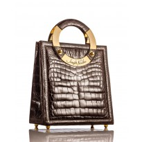 Mega Brown Glazed American Alligator Handbag